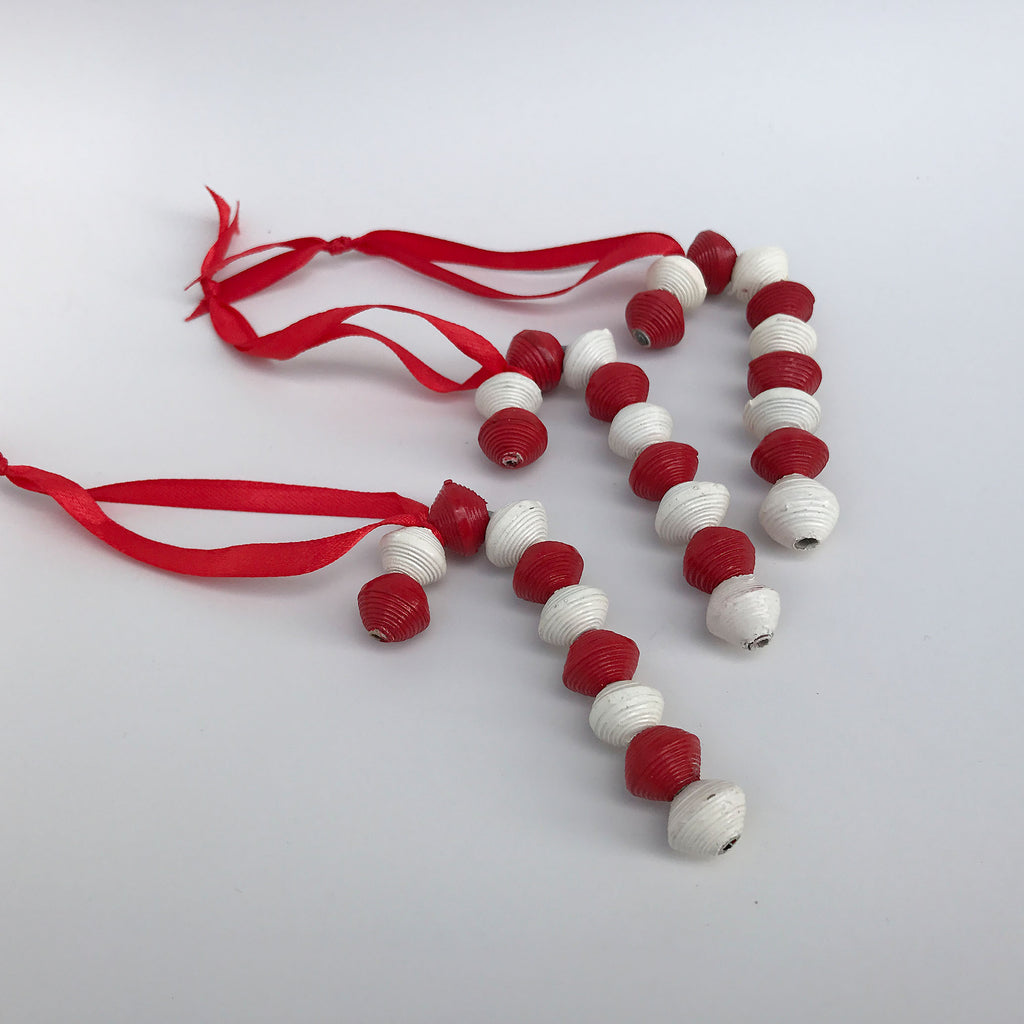 Ornament Set - Paper  - Candy Canes - Set of 3
