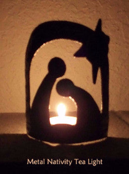 Nativity -Metal - Tea Light