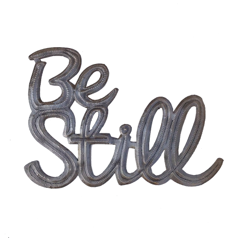 Wall Art - Metal - Be Still (medium)