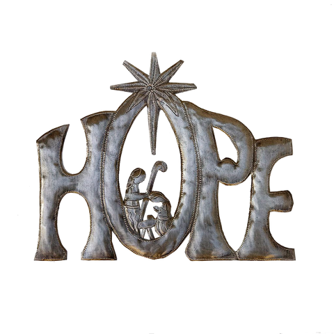 Wall Art - Metal - HOPE Nativity - unpainted