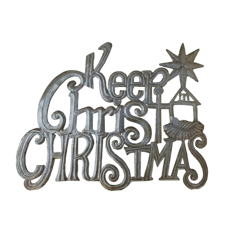 Wall Art - Metal - Keep Christ in Christmas