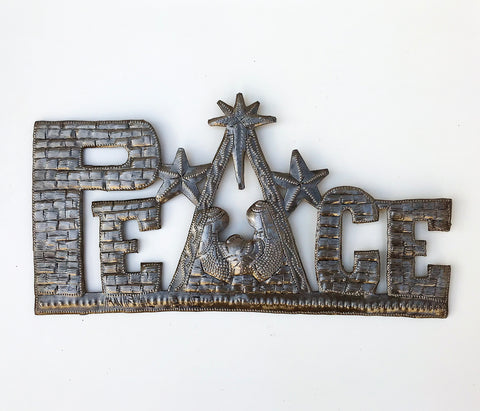 Wall Art - Metal - Peace Nativity