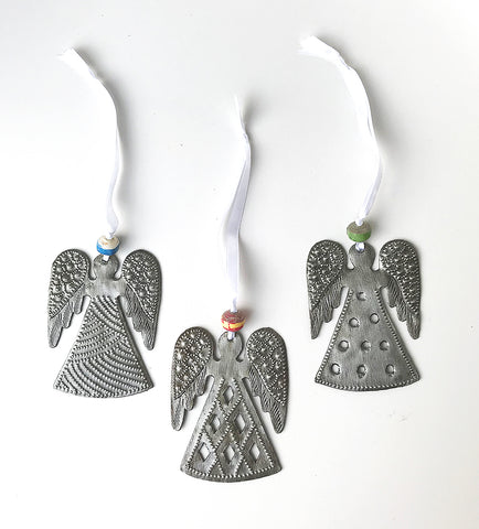 Ornament Set - Metal - Angels - Set of 3