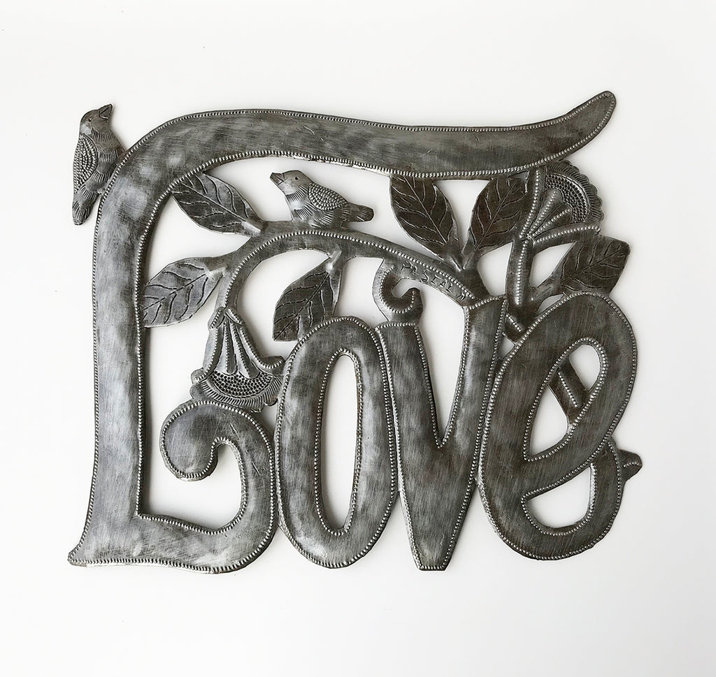 .Wall Art - Metal  - Love with Birds