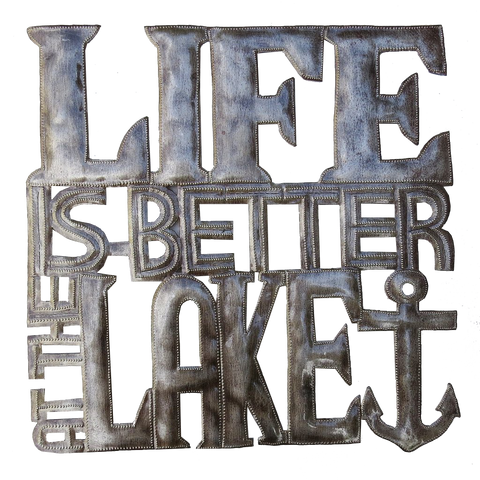 Wall Art - Metal - Life is Better at the Lake