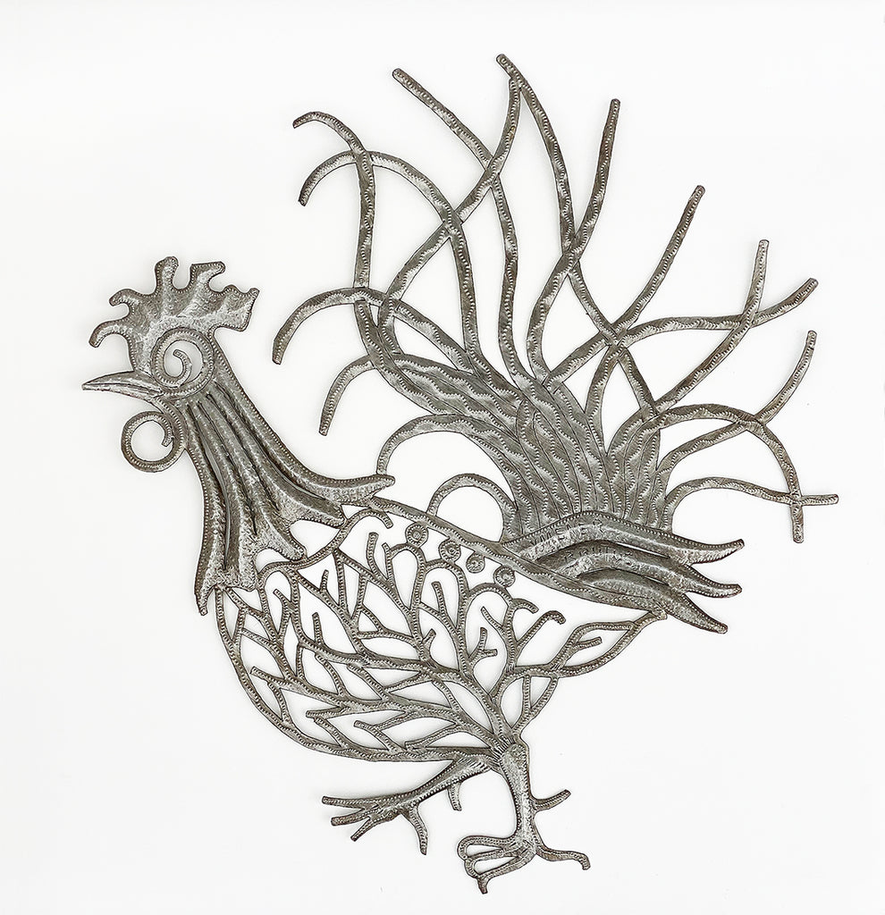 .Wall Art - Metal - Rooster Unpainted