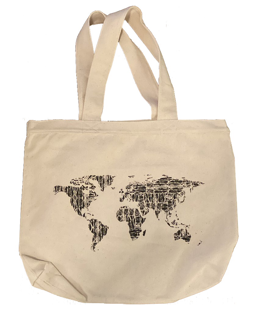 Tote Bag - Screen Printed - World Adventure