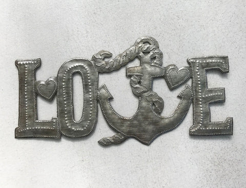 Wall Art - Metal  - Love Anchor
