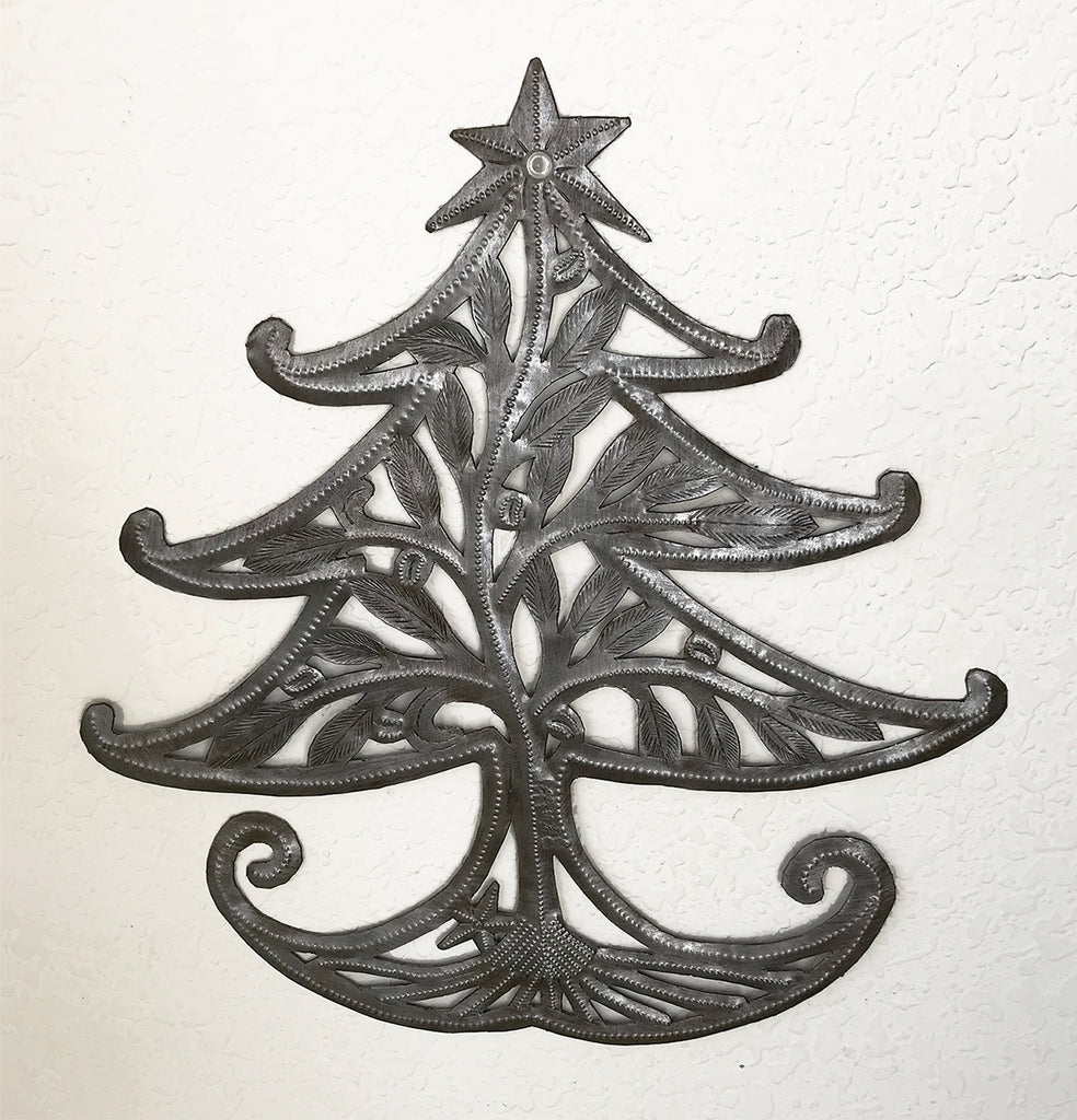 *Wall Art - Metal - Whimsical Christmas Tree