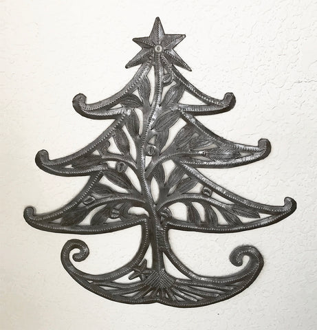 Wall Art - Metal - Whimsical Christmas Tree