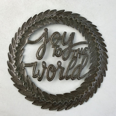 Wall Art - Metal - Joy to the World Wreath