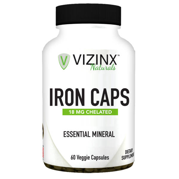 Iron Caps 18 mg 60 Veggie Capsules