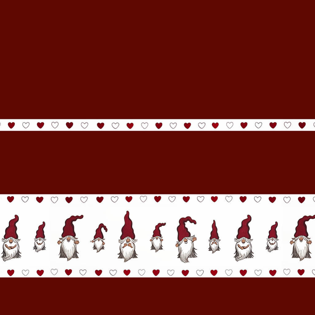"Cotton by the metre - CHRISTMAS ""NISSAR BÅRD"" (red)"