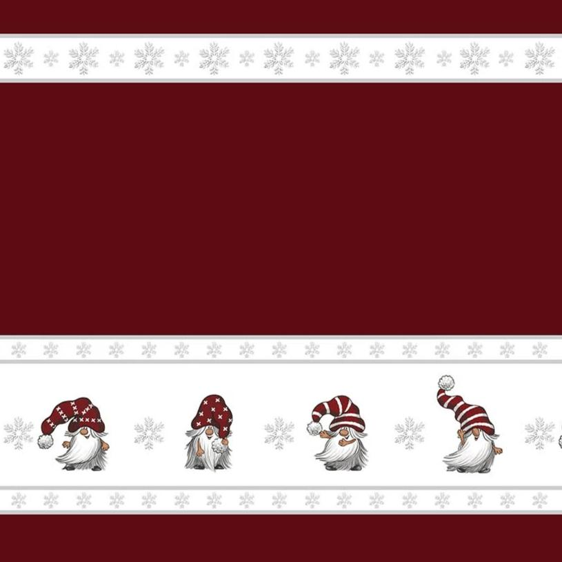 Christmas Fabric by the metre - JULIAN BÅRD (red)
