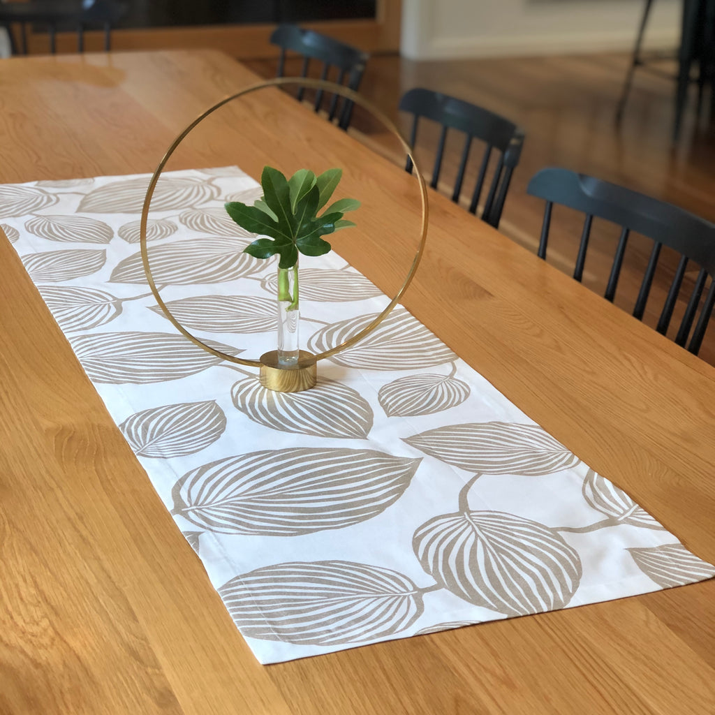 LYCKANS BLAD (gold) - Christmas Table Runner