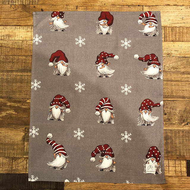JULIAN & CO (grey) - Christmas Tea Towel