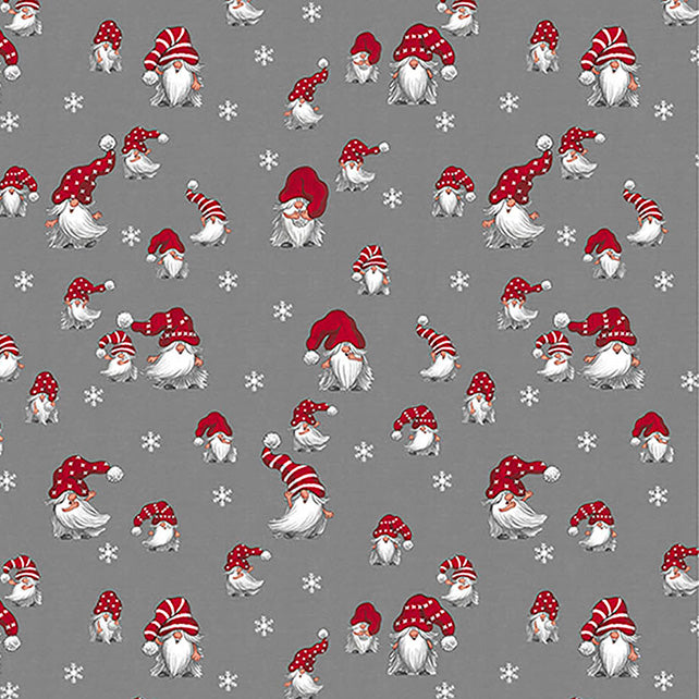 """NEW"" Christmas Fabric by the metre - JULIAN (grey)"