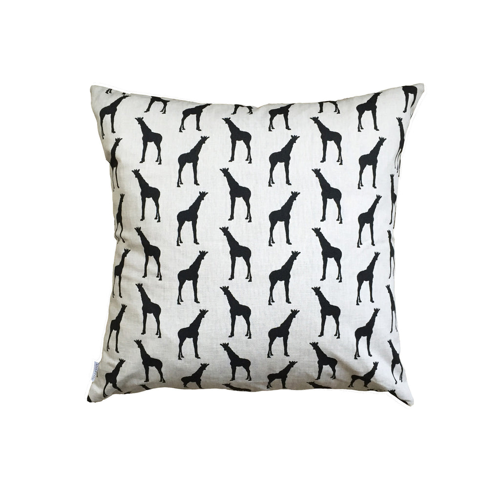 GIRAFFES (black) - Cushion