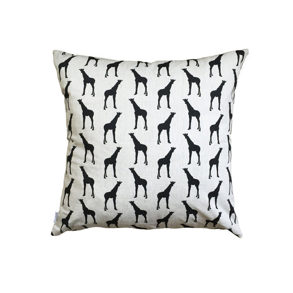 "GIRAFFES (black) - Cushion ""LIMITED STOCK"""