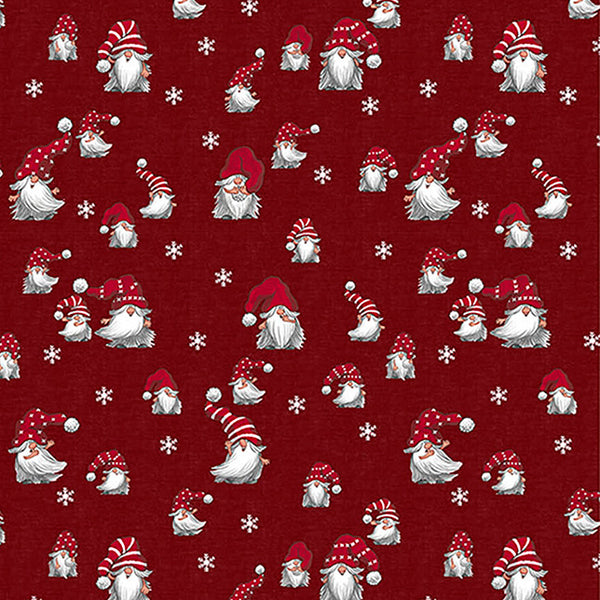 """NEW"" Christmas Fabric by the metre - JULIAN (red)"