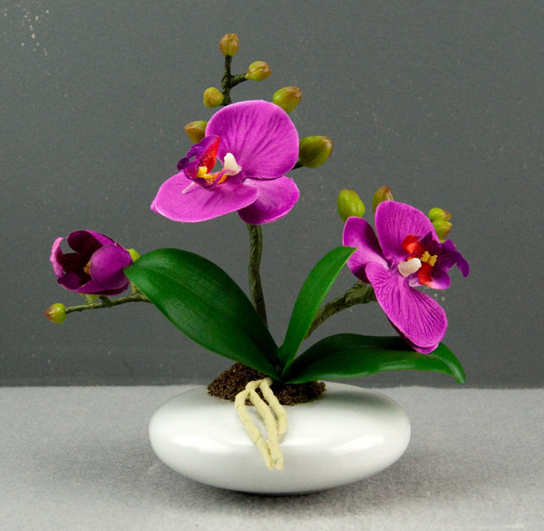 Pretty Valley Home - Artificial Small Oval LED Purple Orchid flower