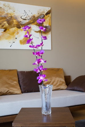 Artificial LED branch with Purple Orchids B-8008