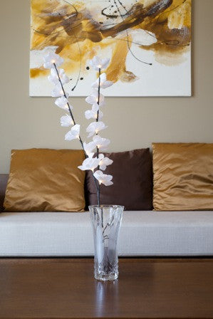 Artificial LED Branch with White Orchids B-8009