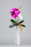 Purple Orchid LED Flower in White Vase - O-003P