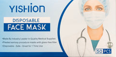 50-Pack Box Blue Disposable Face Masks with Earloop, 3 Layers