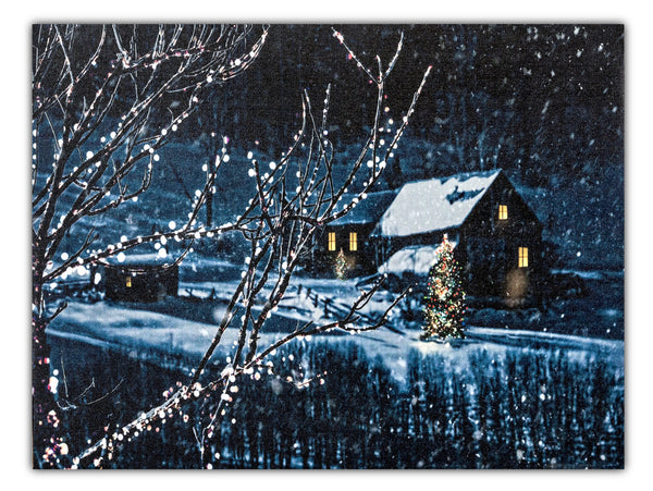 Cabin in the Snow Painting TA16-PD00057