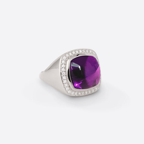 Cushion Signet Ring - Silver
