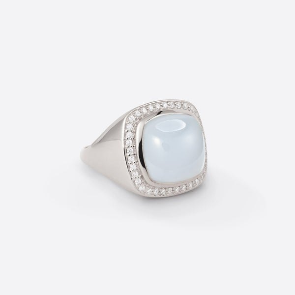 Cushion Signet Ring - Silber