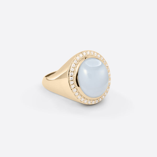 Oval Signet Ring - Silver