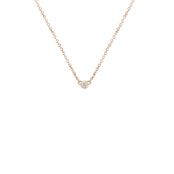 Silver neck necklace plated gold and diamond for women