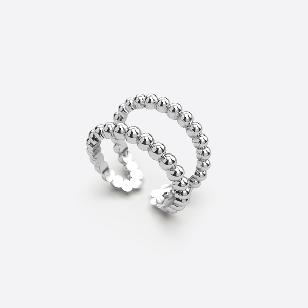 Ring Duo - Silber