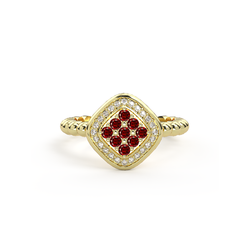 Bague Damier - Or