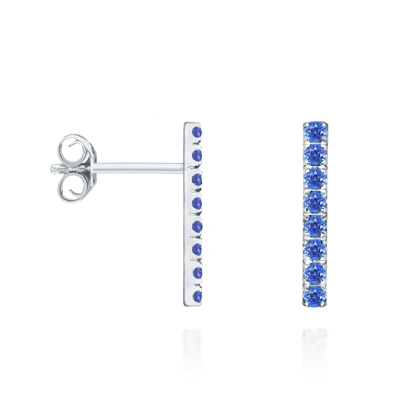 Stud Bar Earrings - Silver
