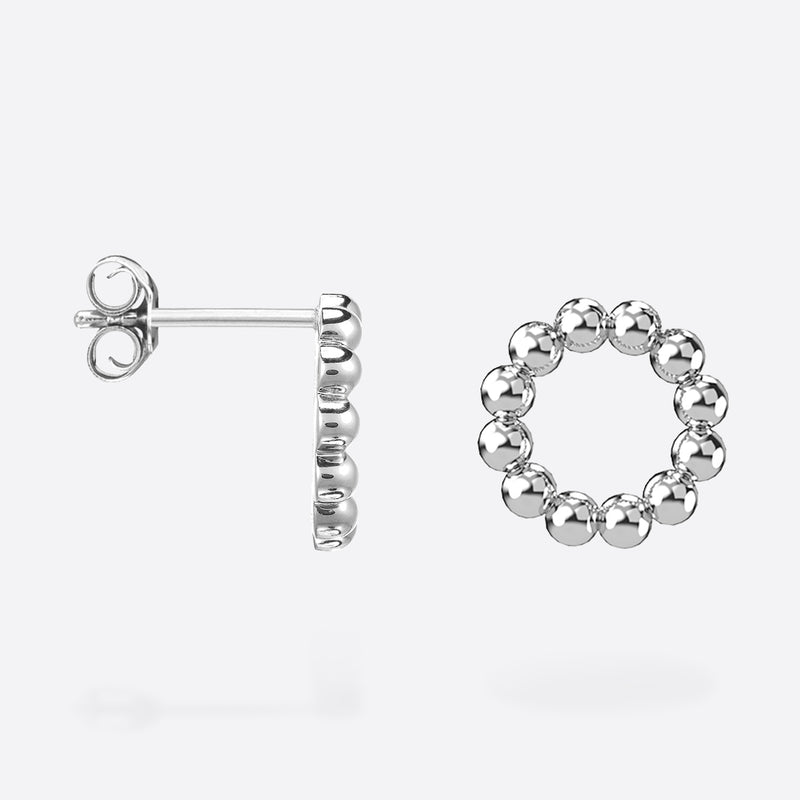Stud Cercle - Silver