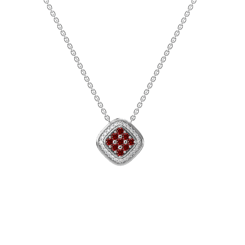 Damier Necklace - Silver