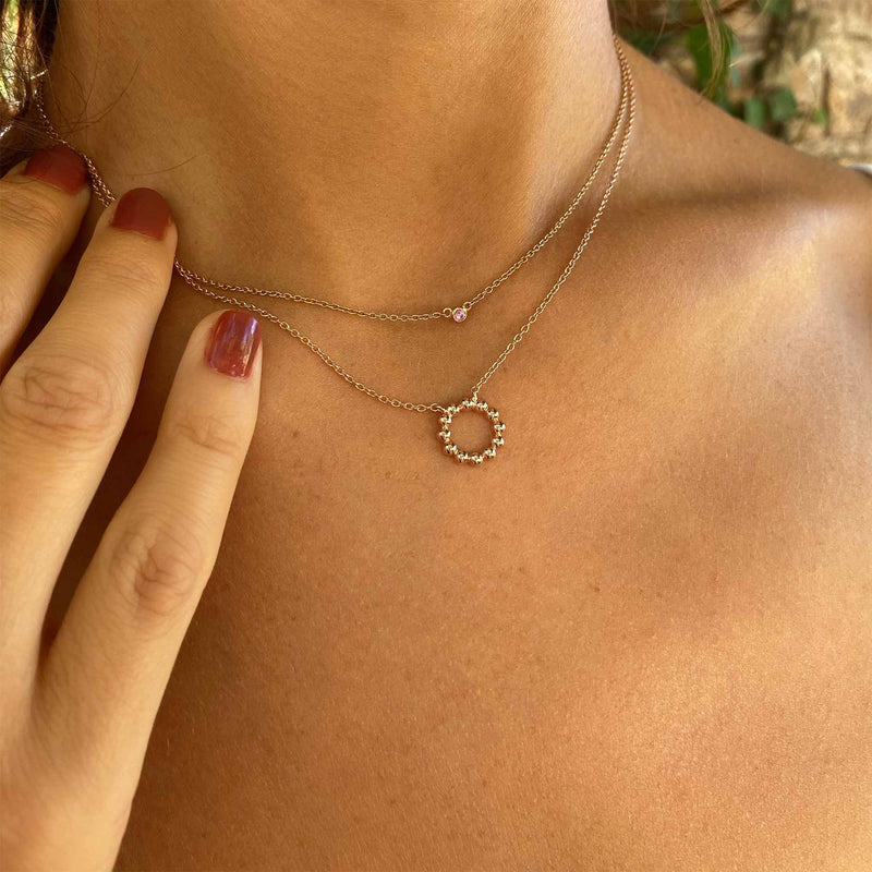 Collier Lucky Stone - Argent