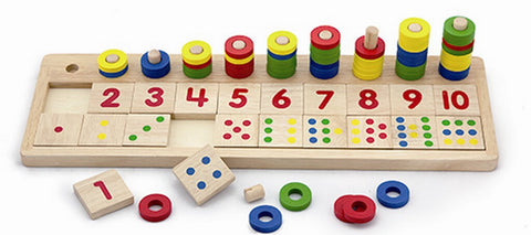 Wooden Toys, Counting and Matching Numbers Play Set