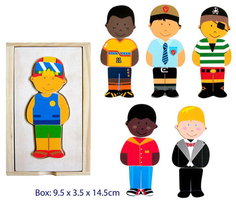 Wooden Toys, Dress Up Boy Play Set