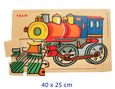 Online Toys Wooden Train Jigsaw Puzzle