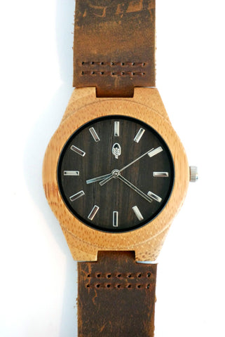 Congo (small face) | Carbonized Bamboo Case Watch