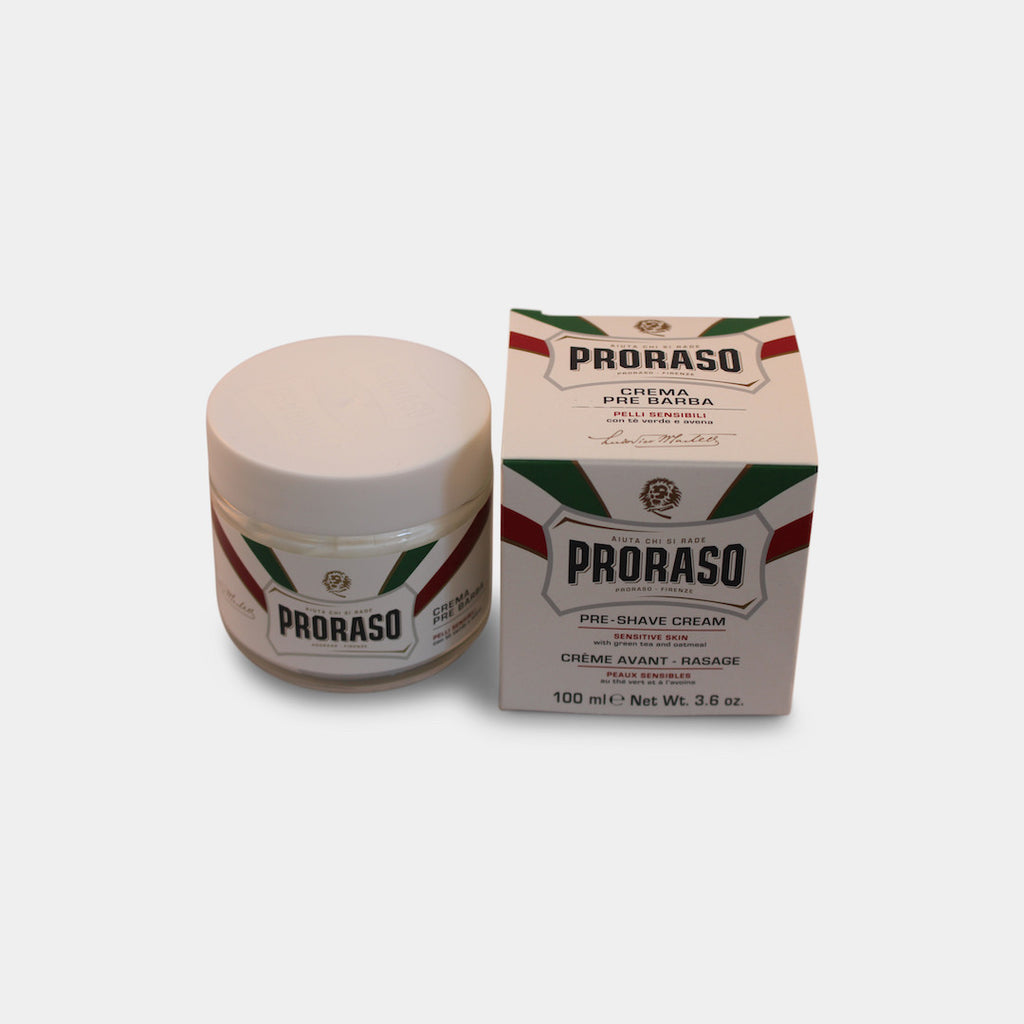 Proraso Barbersæbe i skål - Sensitive, Grøn Te & Havre, 150 ml