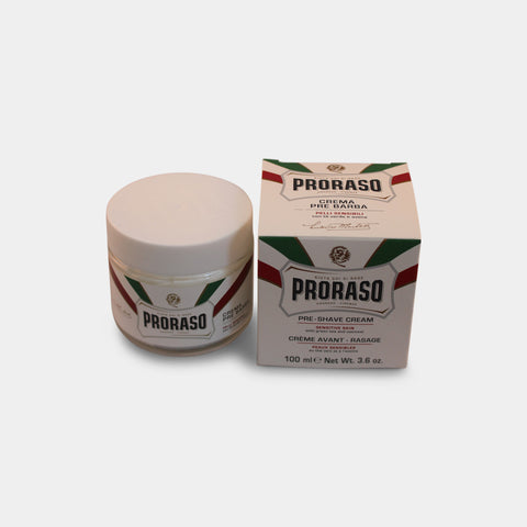 Proraso Preshave Cream - Sensitive, Grøn Te & Havre, 100 ml.