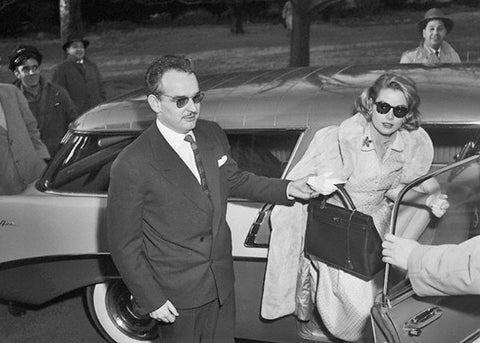 Grace Kelly holding Hermes Kelly bag