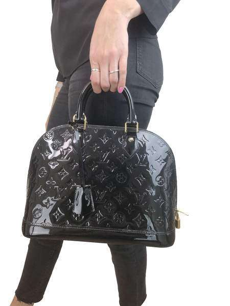 Louis Vuitton Noir PM Alma Vernis Leather RRP £1630 Louis Vuitton - Timpanys