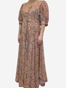Doen Red floral maxi dress - size L