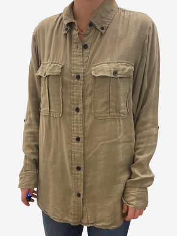 Beige cotton shirt - size FR 36